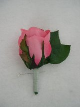 Pink Rose Bud Boutonniere - Minneapolis Silk Florist