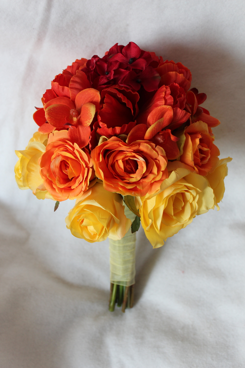 Ombre Silk Bridal Bouquet Silk Wedding Flowers And Bouquets Online