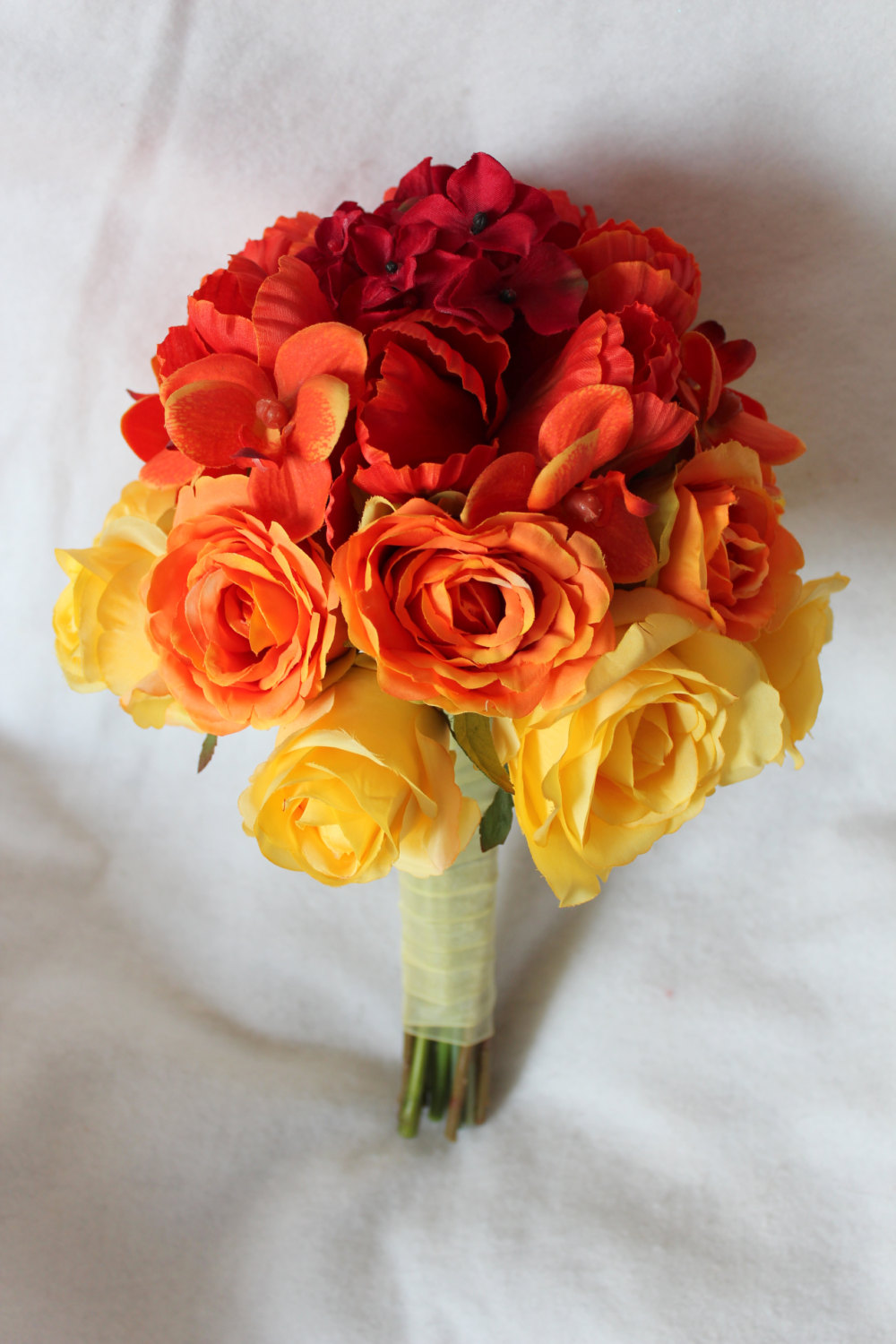 minneapolis-silk-florist-Ombre-Silk-Wedding-Flower-Bridal-Bouquet-&-Boutonniere.jpg