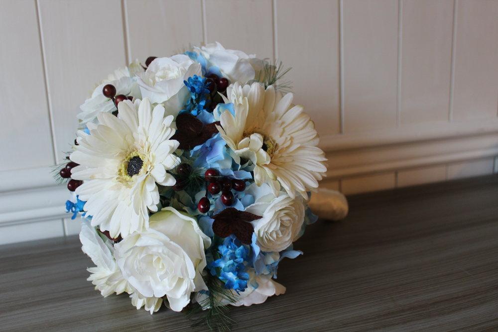 Bridal Bouquet Recreation in Silk Flowers