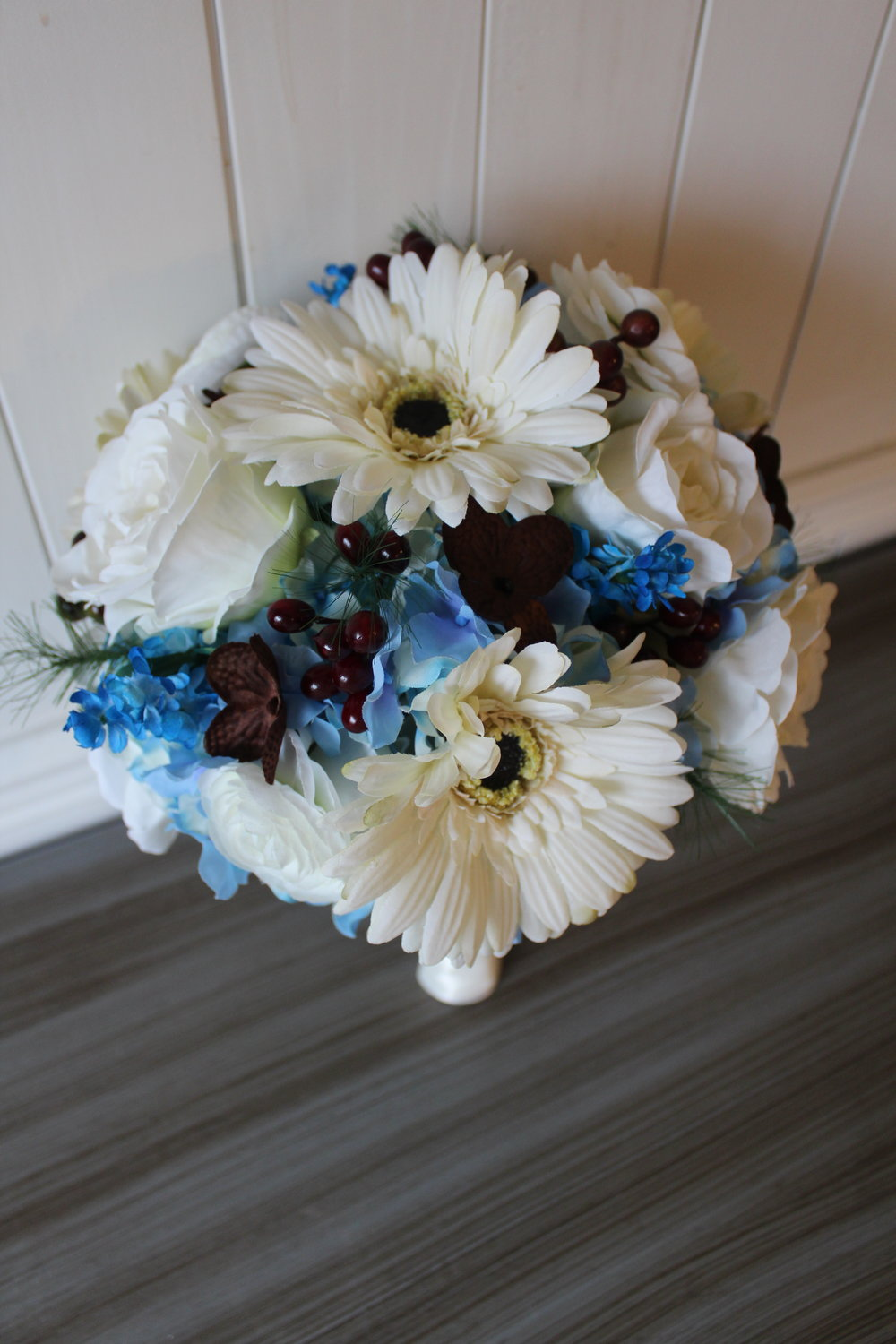 Bridal Bouquet Recreation with silk flowers