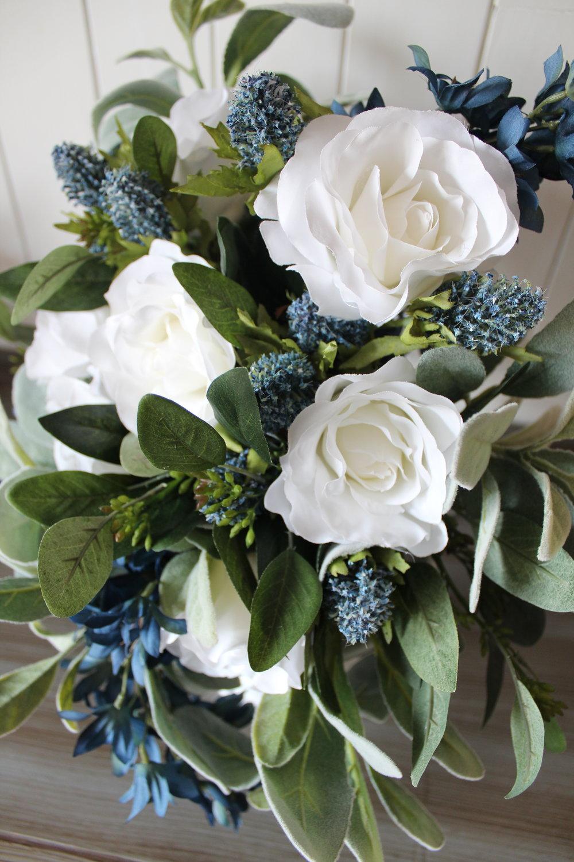 Silk Wedding Flowers with Rustic Romance
