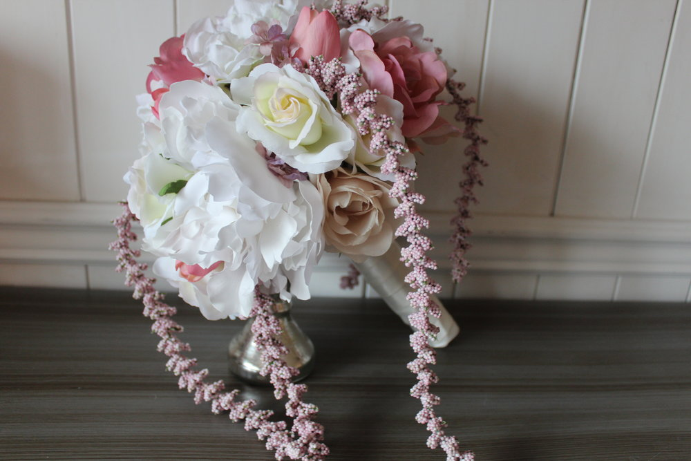 The silk bridal bouquet recreation