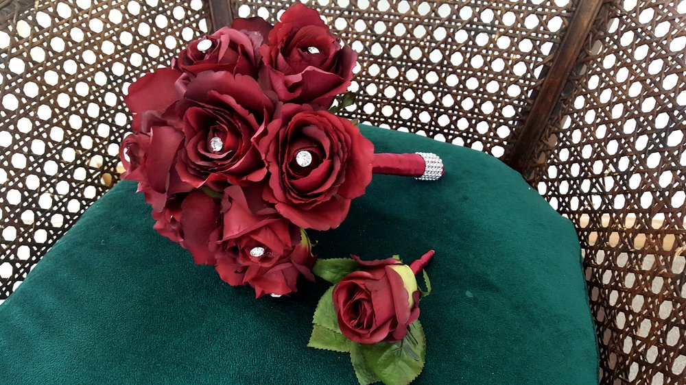 Check back soon for details about this gorgeous red bouquet for southern bride, Catherine.