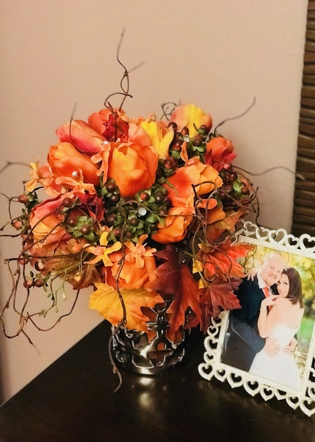Displaying your Bridal Bouquet Silk Wedding Flowers and Bouquets