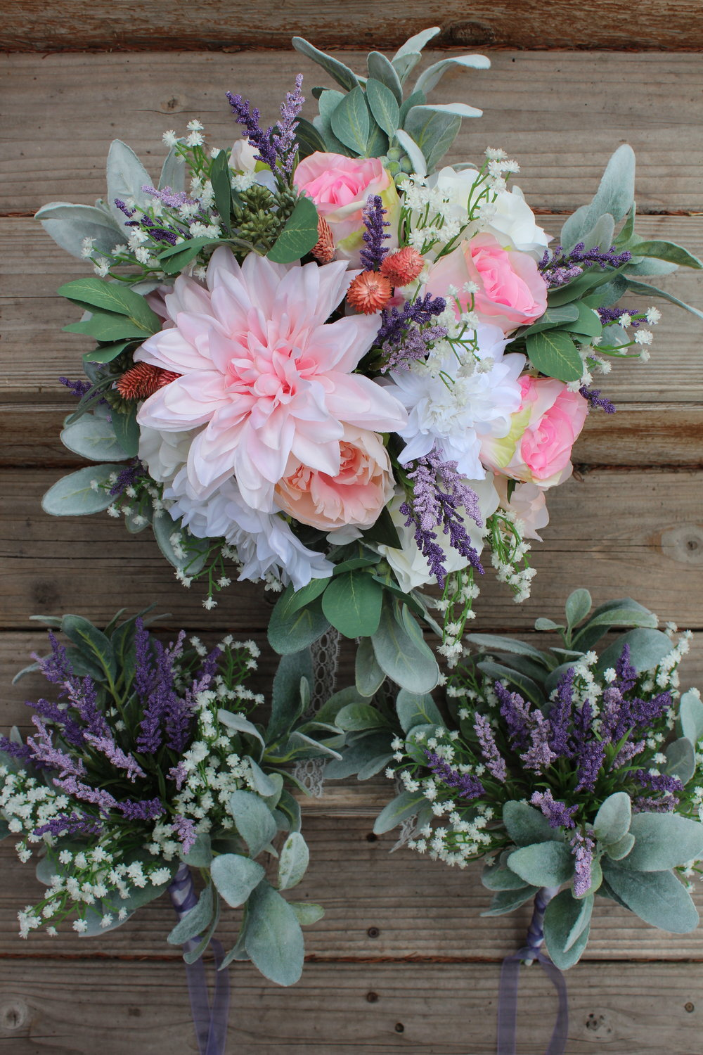 Spring Bridal Bouquet In Silk Flowers Loose Style Bouquets Silk