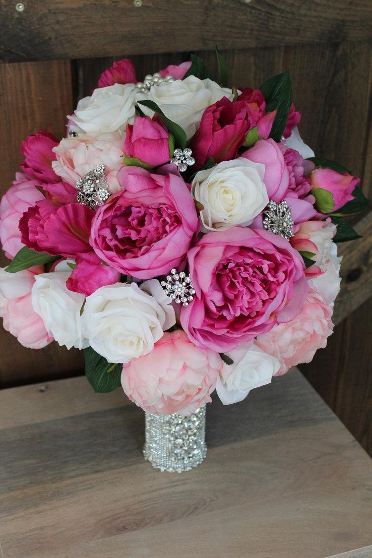 Wedding Bouquet Bling in Silk Flowers- Part 2 — Silk Wedding Flowers ...