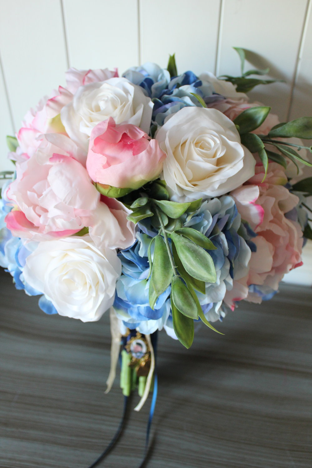 Pink Navy And Gold Silk Wedding Flowers Silk Wedding Flowers And