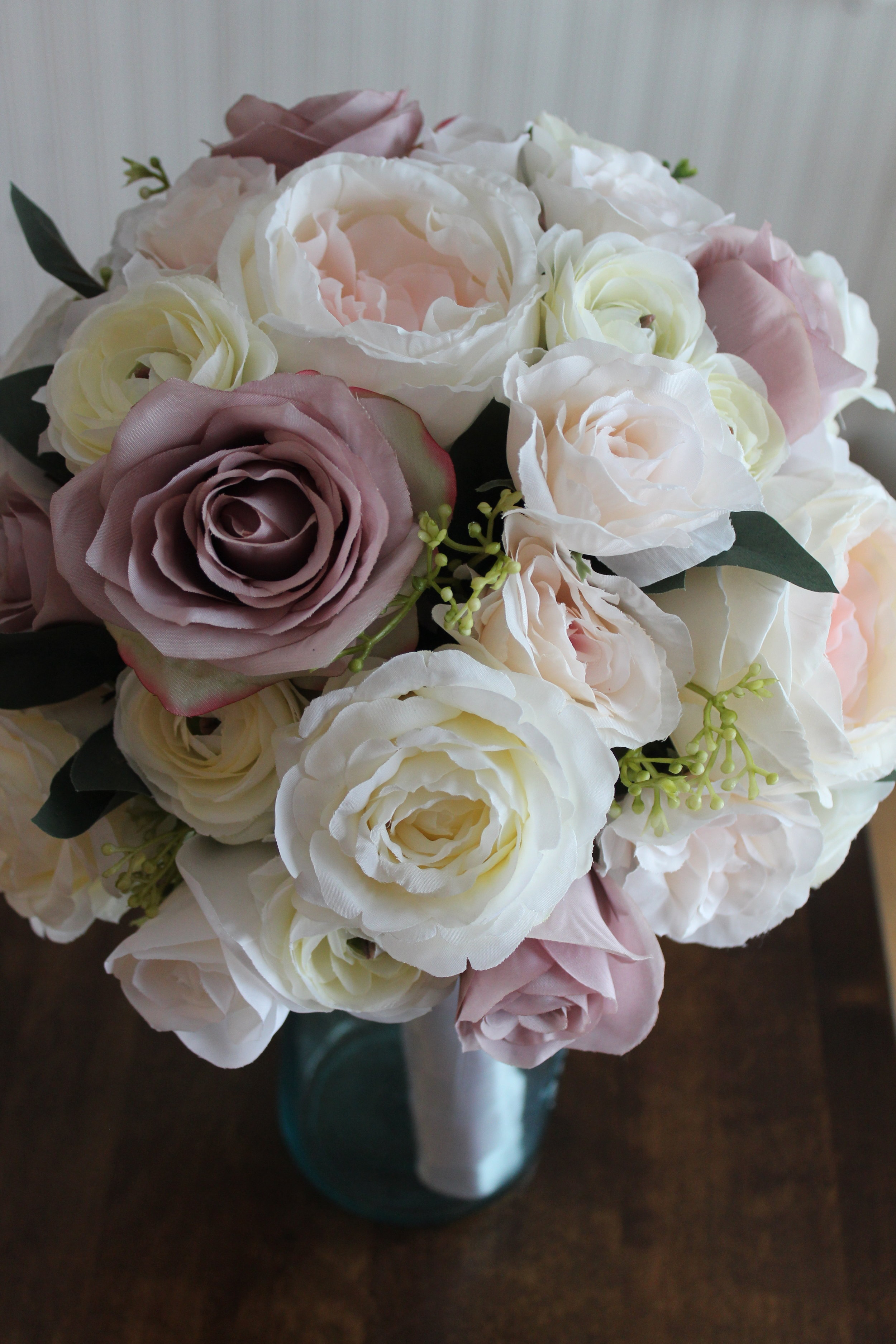Blush And Mauve Bridal Bouquet Recreation Silk Wedding Flowers And Bouquets Online Love Is Blooming