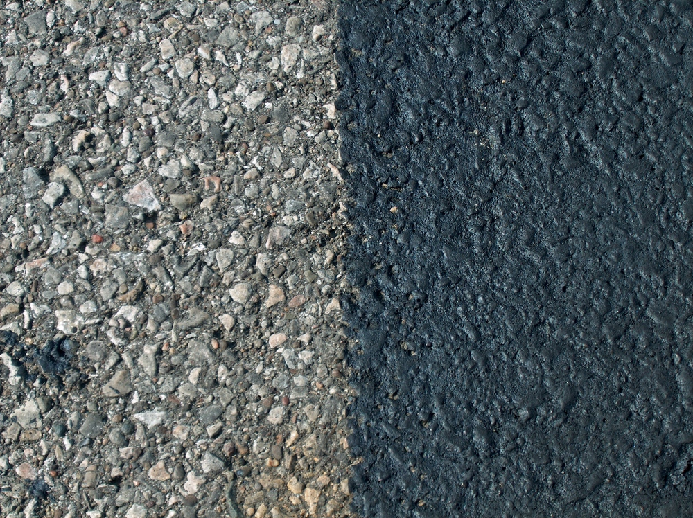 asphalt sealer close up