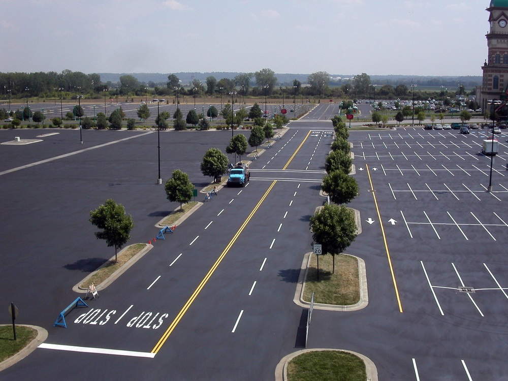 sealer large parking lot