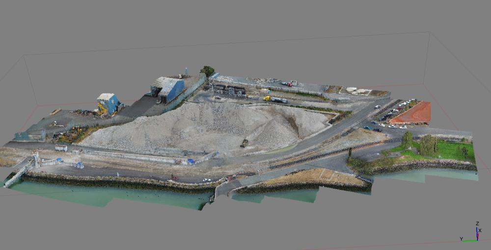 Volumetric Stockpile Drone Survey Redwood City, CA