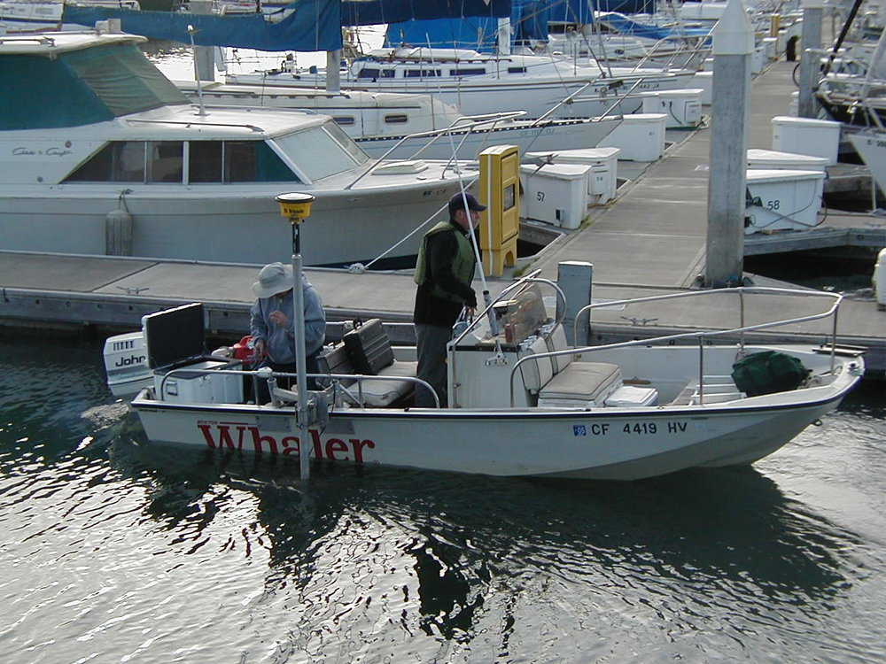 Hydrographic Surveys on Boston Whaler Boat in San Francisco Bay Area