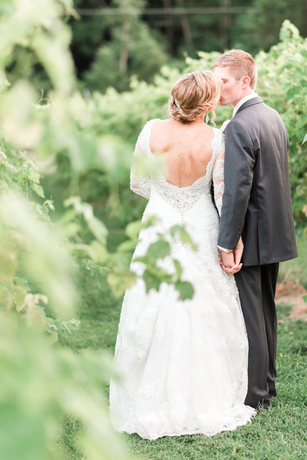 Couple Kissing in the Vineyard
