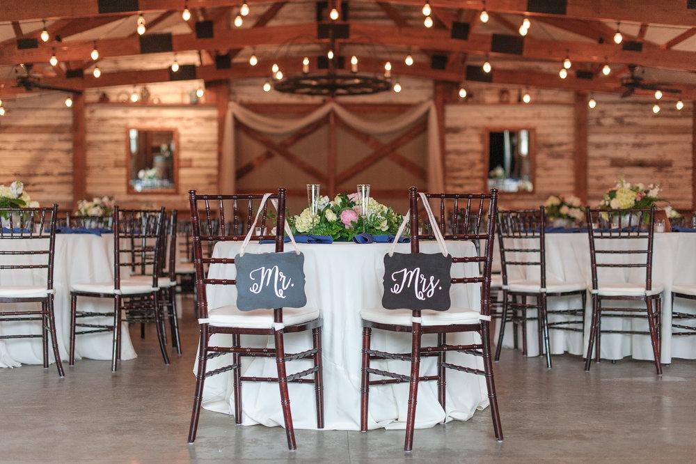 Head Table in Barn