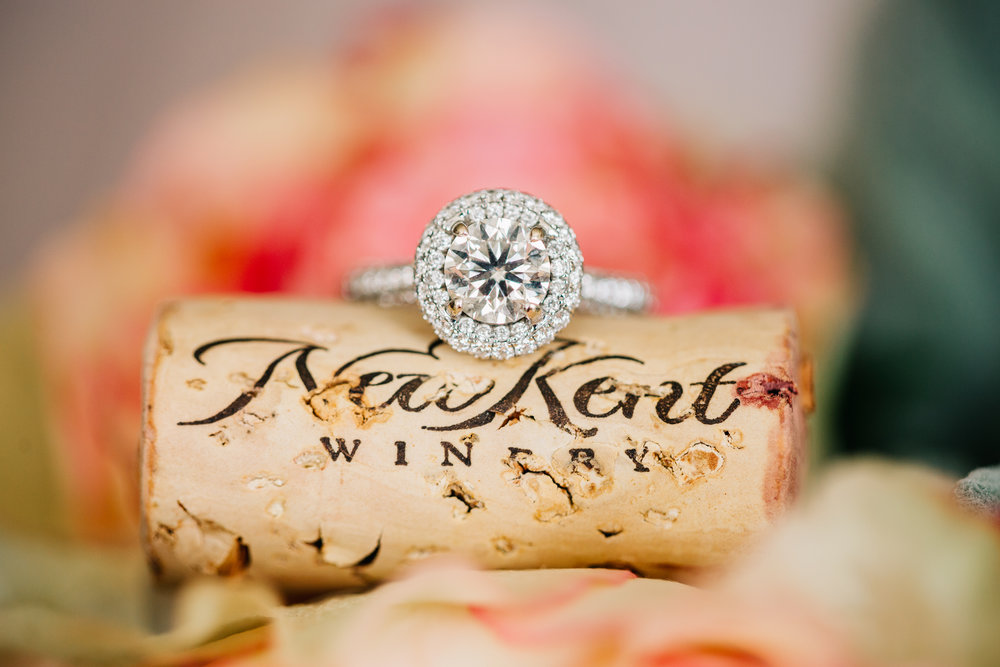 Engagement Ring on a New Kent Winery Cork