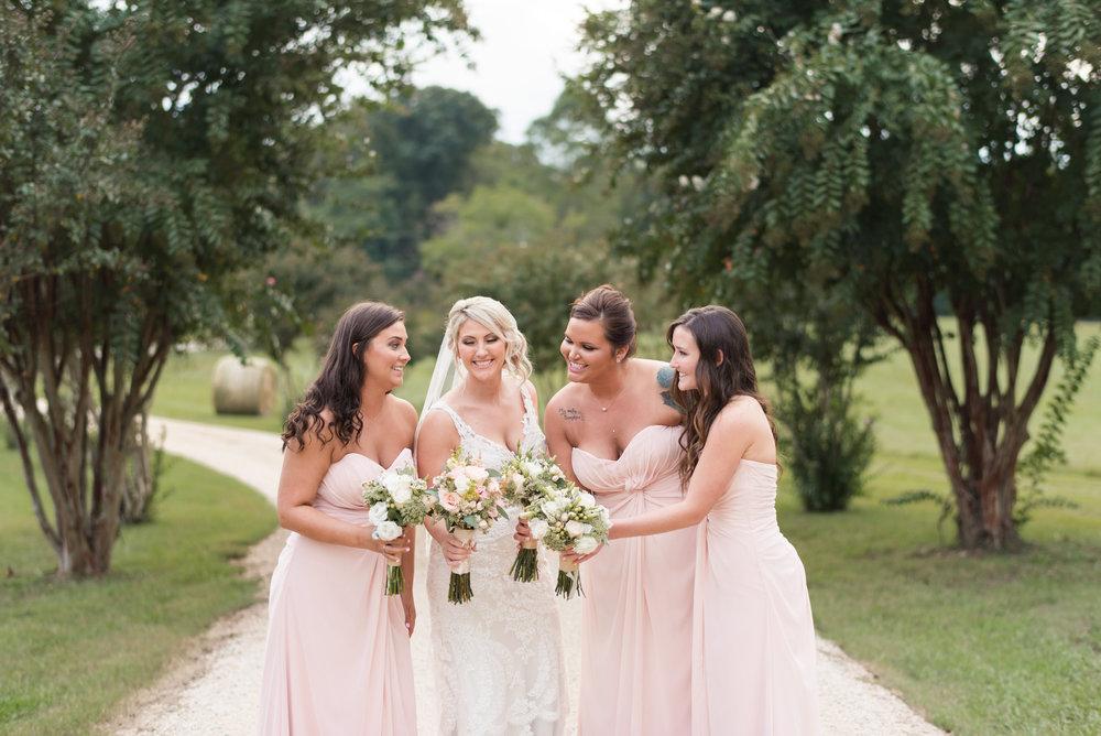 Bride and Bridesmaids in the Entryway