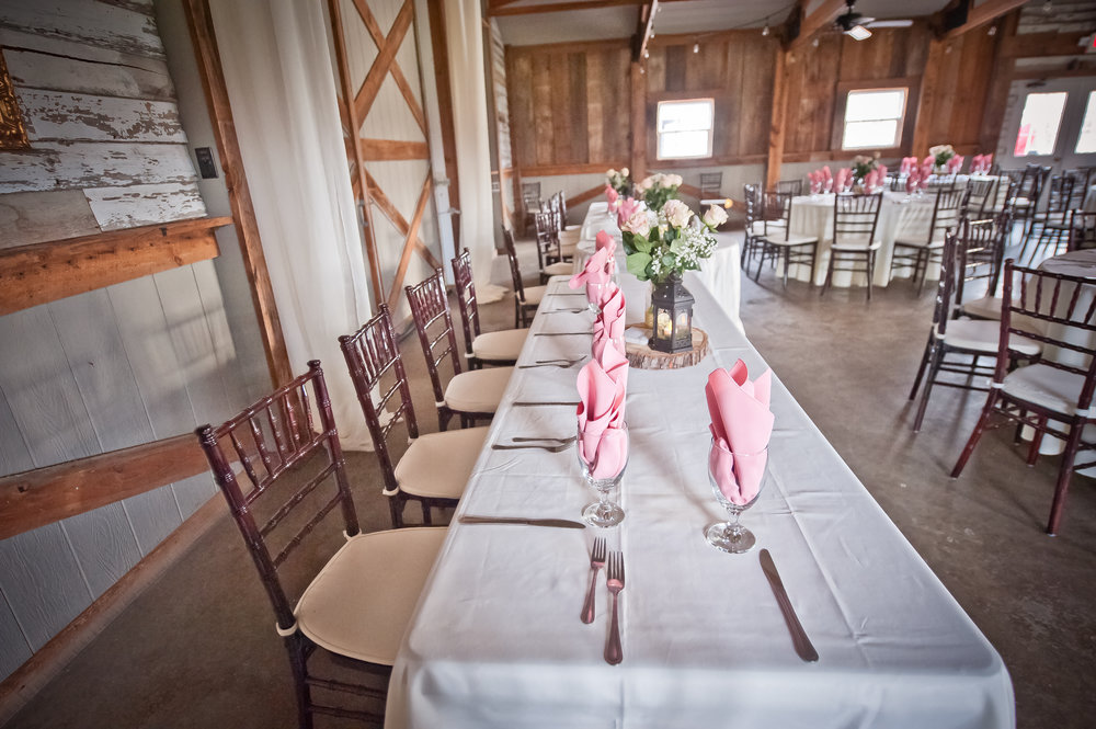 Head Table at a Beautiful Wedding Reception