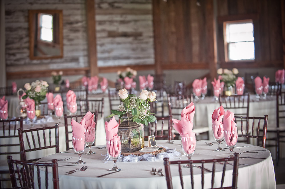 Beautiful Reception in the Barn