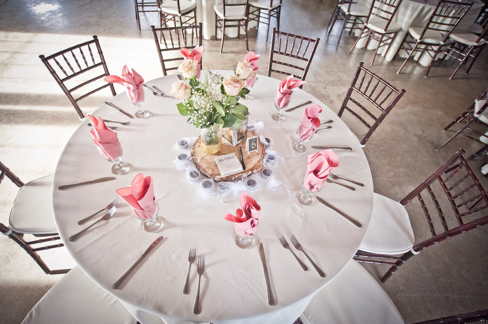 Table setting with pink napkins.JPG