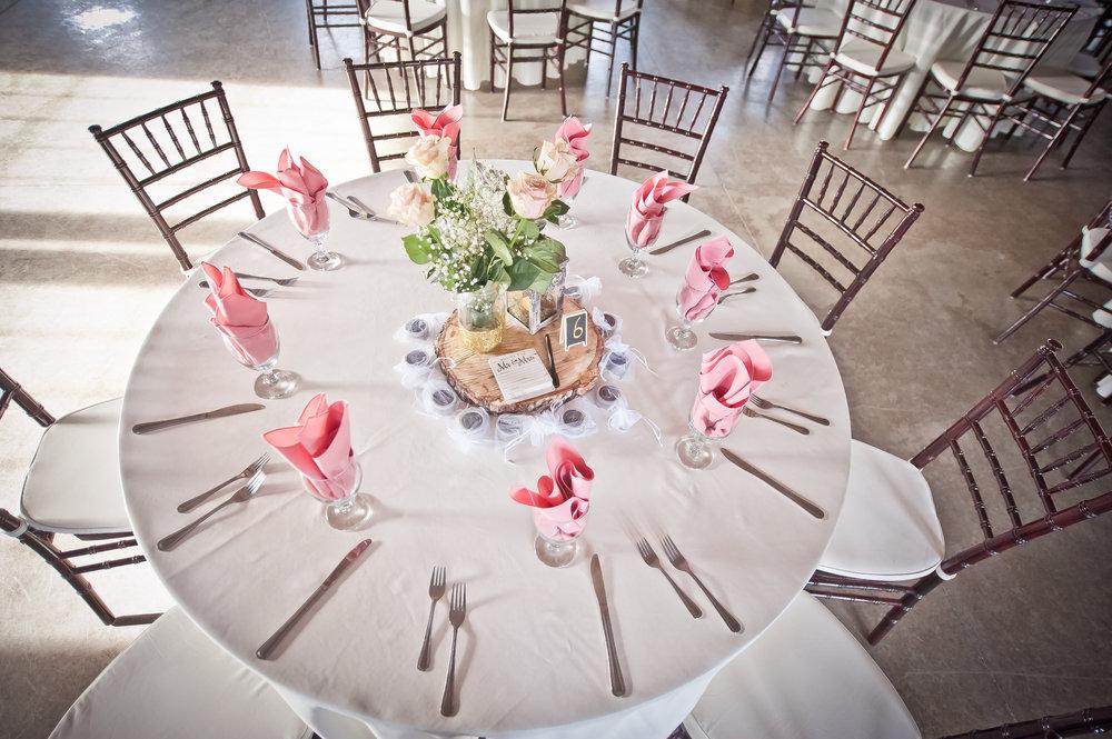 Beautifully Set Table at a Reception