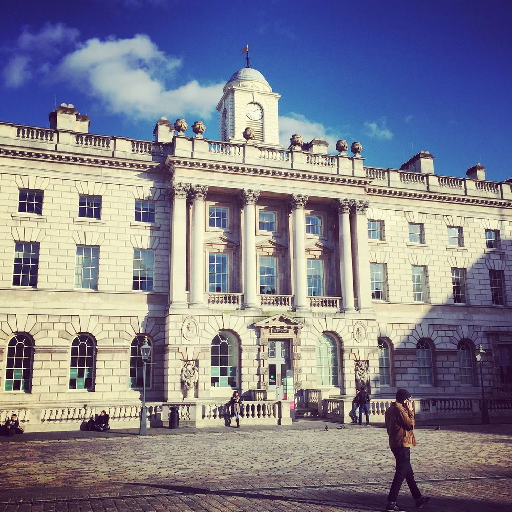 Somerset House, where we sometimes hold play-testing workshops. There are lots of lovely cafes all around this courtyard!