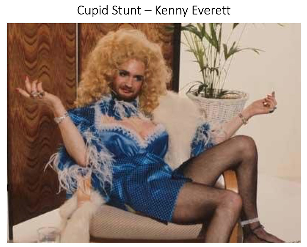 "Haha this is where it all began for me - with the wonderful Kenny Everett - I remember coming home from school and putting on my shiny blue sports shorts (the closest I had to french knickers) and swinging my legs around ""in the best possible taste""!! I've always been drawn to men in dresses!!"