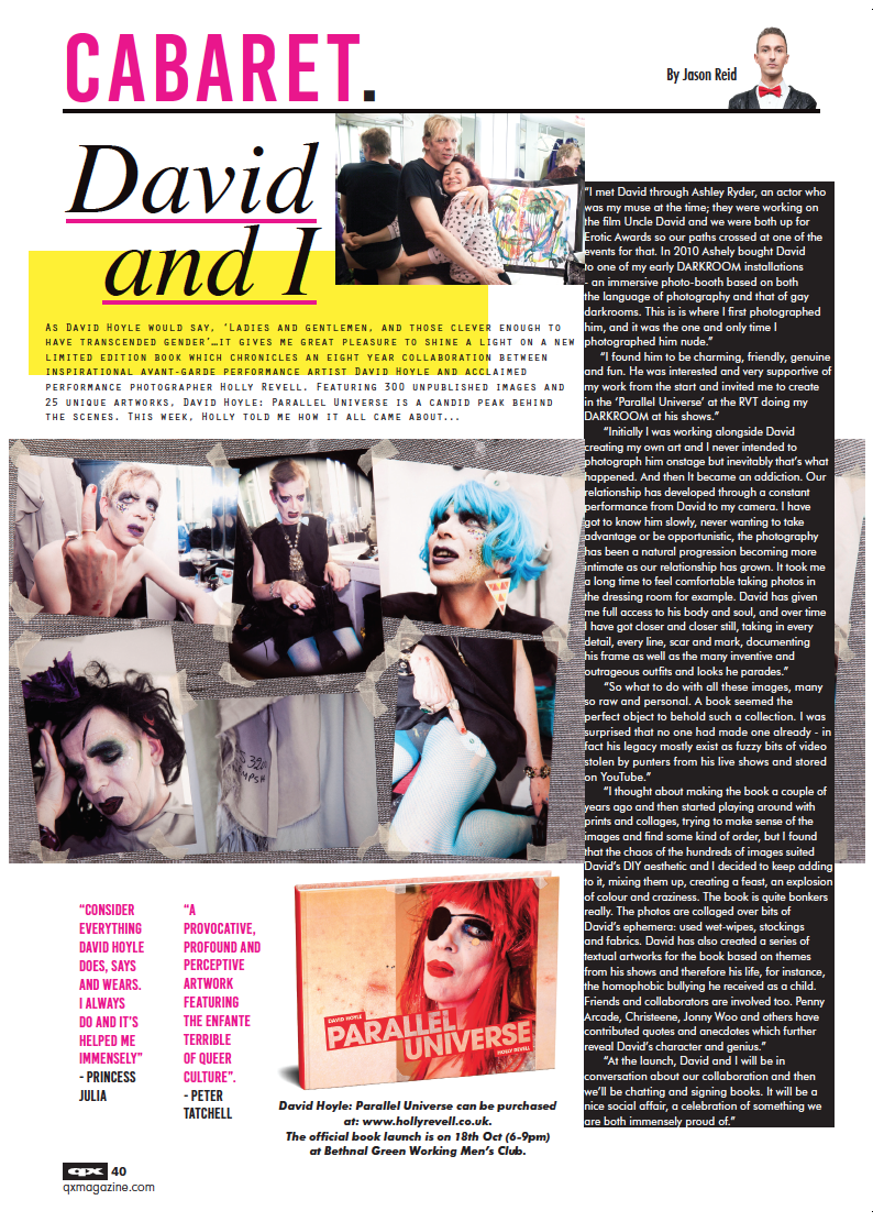 My interview in QX p.40