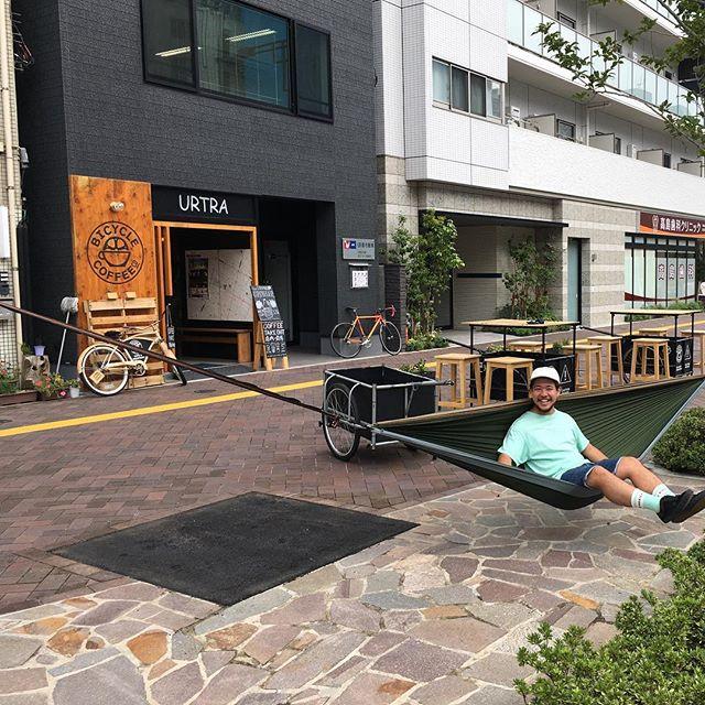 皆さん良い週末を〜!! #bicyclecoffeetokyo #bicyclecoffee #enohammock #ハンモック #パブリック娘 #toranomon #虎ノ門 #coffee #コーヒー