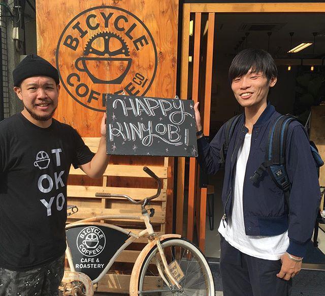 はっぴぃきんようび。 良い週末を〜👍 #bicyclecoffeetokyo #bicyclecoffee #コーヒー #coffee #パブリック娘 #toranomon #虎ノ門 #missionworkshop