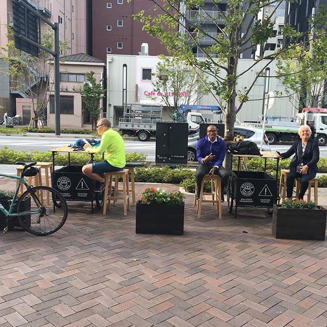 GOOD MORNING‼︎ #freecoffeefriday  #bicyclecoffeetokyo #bicyclecoffee #toranomon #虎ノ門 #coffee #コーヒー #自転車 #bicycle