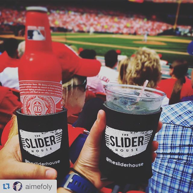 #Repost @aimefoly ・・・ Enjoying our first #cardinals game of the season, using our @sliderhouse koozies to keep the drinks cold @rwitzl #gocards #sliderhouse #buschstadium #slidersthatgoplaces