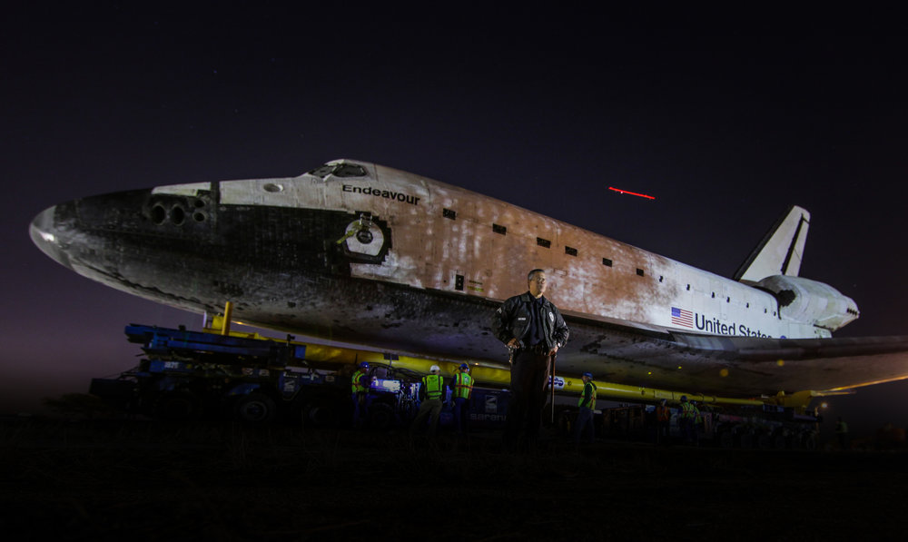 Endeavour Shuttle - After its formal decommission in 2011,Dereks photographs the transfer of the Endeavor Space Shuttle.