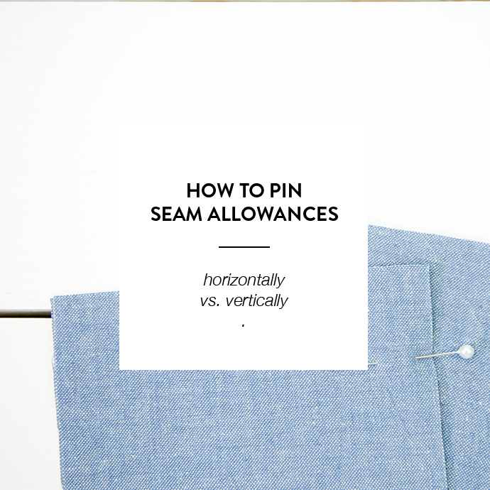 HOW TO PIN FABRIC - www.CLOTHSTORY.com