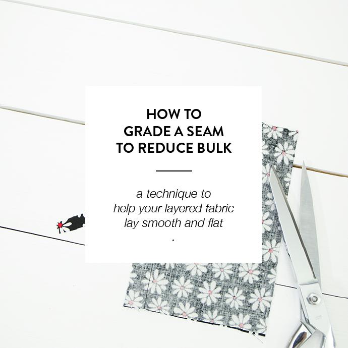 HOW TO GRADE A SEAM -www.CLOTHSTORY.com