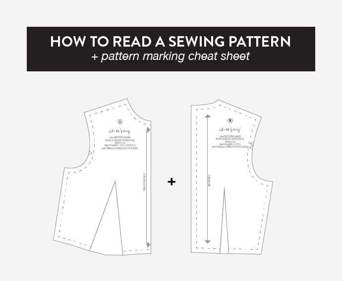 UNDERSTANDING SEWING PATTERN MARKINGS -www.CLOTHSTORY.com