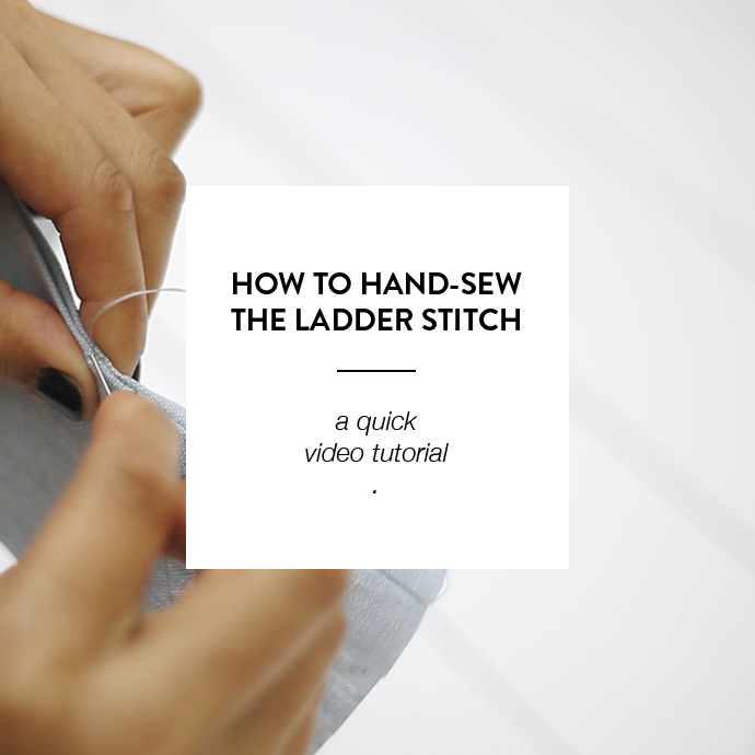 HOW TO HAND-SEW THE LADDER STITCH - WWW.CLOTHSTORY.COM