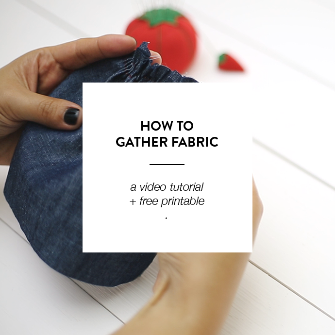 HOW TO GATHER FABRIC -WWW.CLOTHSTORY.COM