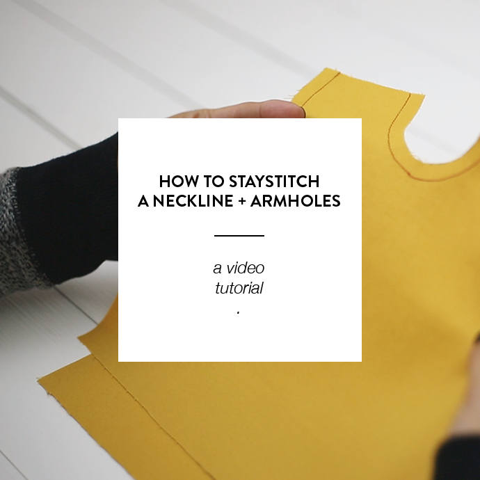 HOW TO STAYSTITCH - CLOTHSTORY.COM