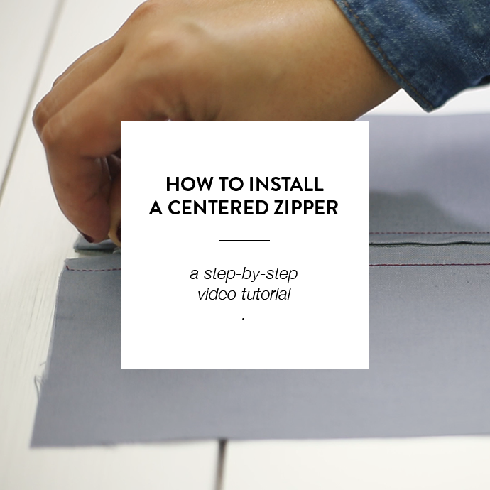 HOW TO INSTALL A CENTERED ZIPPER - WWW.CLOTHSTORY.COM