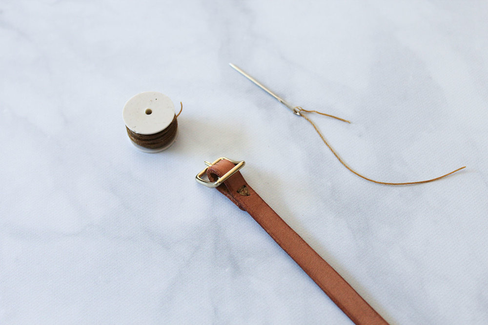 DIY DOUBLE WRAP LEATHER BRACELET WITH PRINTABLE PATTERN - CLOTHSTORY.COM