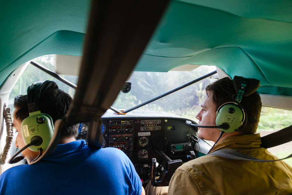 Channing Tatum flies into the Amazon. Credit: Andy Isaacson