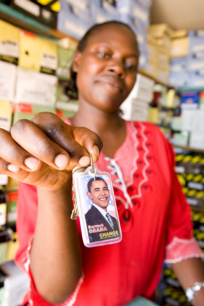 Obama merchandise for sale in Kisumu. Credit: Andy Isaacson