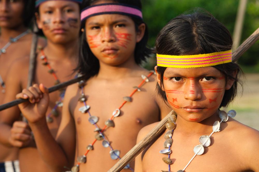 Achuar boys in Ecuador. Credit: Andy Isaacson