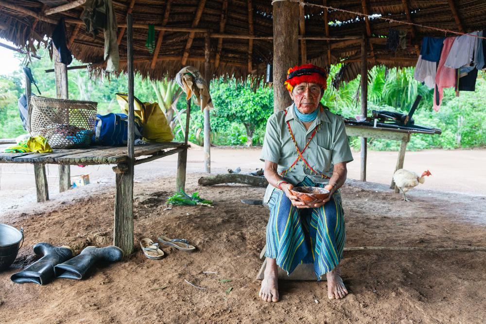 Tsumpa, an Achuar shaman. Credit: Andy Isaacson
