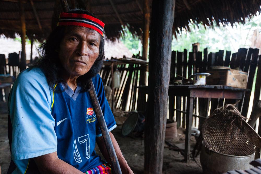 Jippeikit, an Achuar elder, Ecuador. Credit: Andy Isaacson