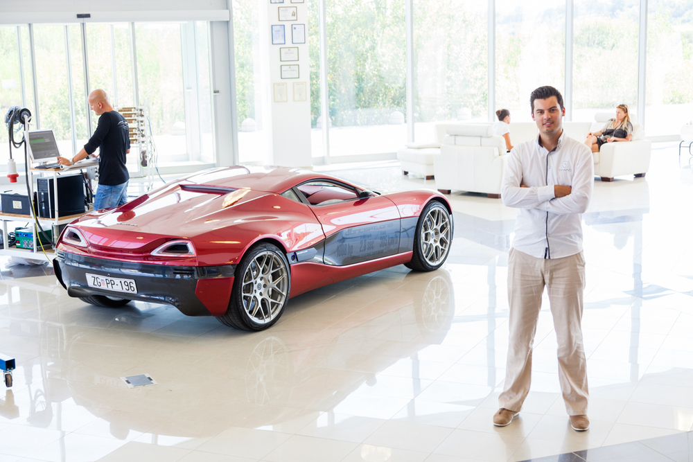 Mate Rimac and the Concept One. Credit: Andy Isaacson