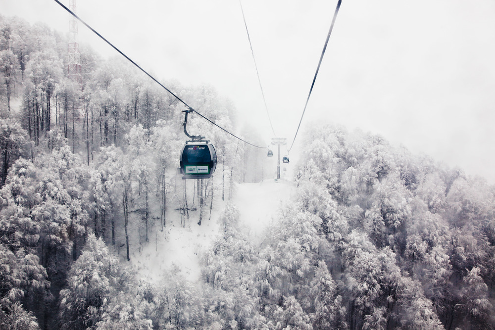 Gondolas at Rosa Khutor. Credit: Andy Isaacson