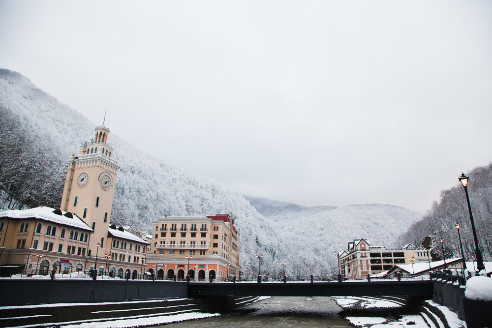 Rosa Khutor is hosting the Olympic alpine events. Credit: Andy Isaacson