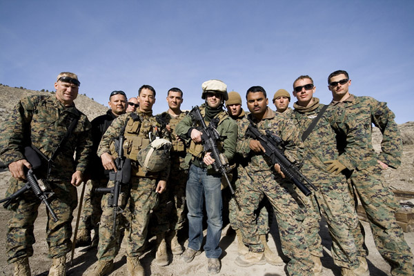 Me, with Marines.
